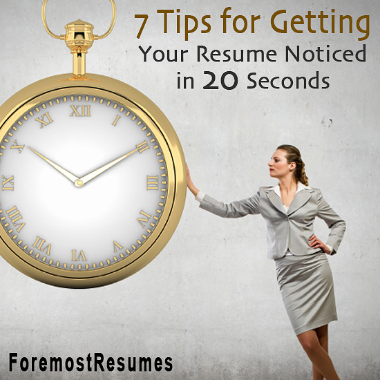 Does your resume pass the 20 second test?