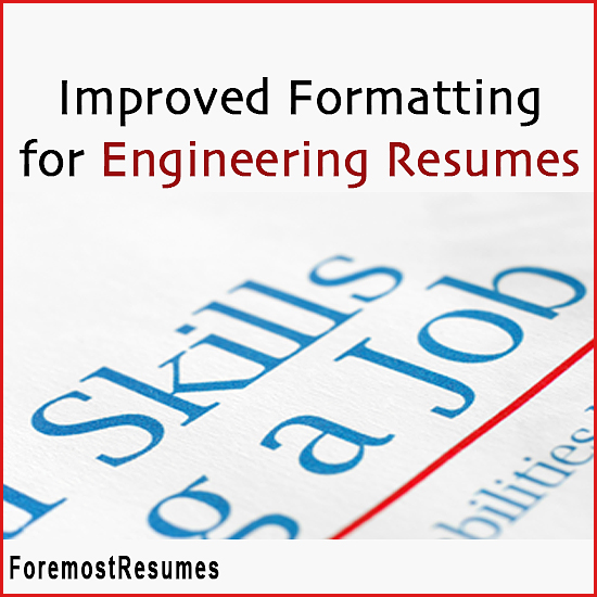 Resume formatting for engineers