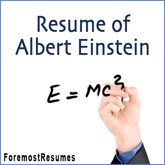 Albert Einstein's resume