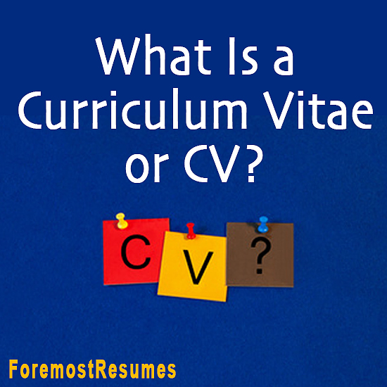 What is a Curriculum Vitae?