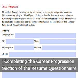 tips for completing the resume questionnaire - Resume Questionnaire Template