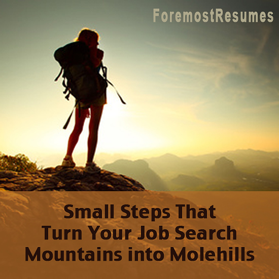 Small Steps That Turn Your Job Search Mountains into Molehills