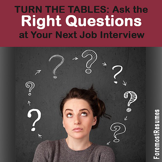 Ask the right questions during your job interview